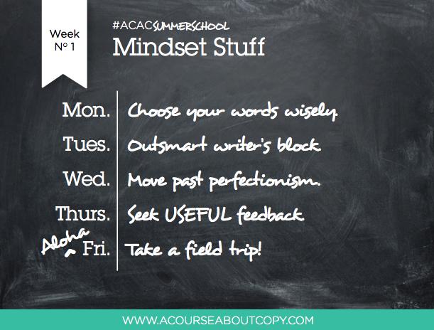 ACAC Summer School Week 1
