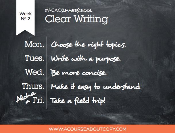 ACAC Summer School Week 2